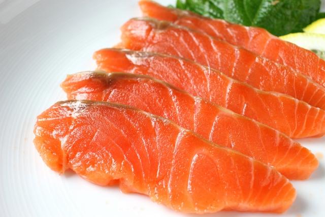 鮭缶とごま油